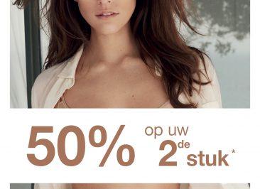 Chantelle actie: 50% korting op 2e artikel