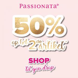 actie Passionata 2e stuk 50%